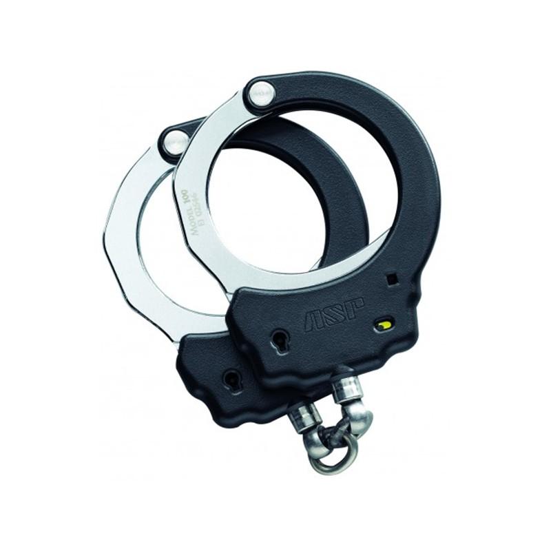 ASP, Handschellen mit Kette, Stahl, schwarz_70063